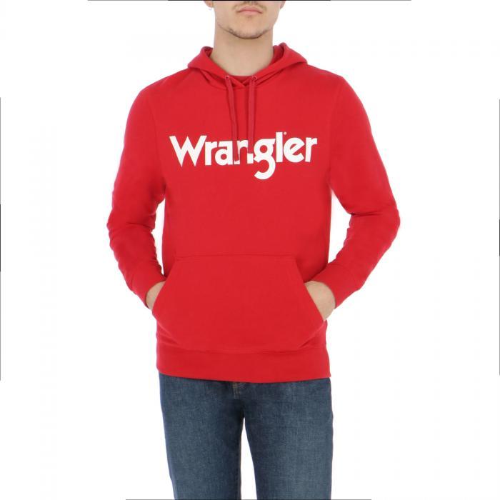 wrangler felpe scarlet red