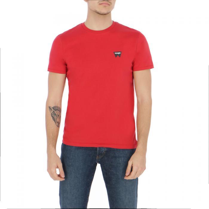 wrangler t-shirt e canotte scarlet red