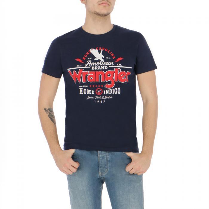 wrangler t-shirt e canotte navy