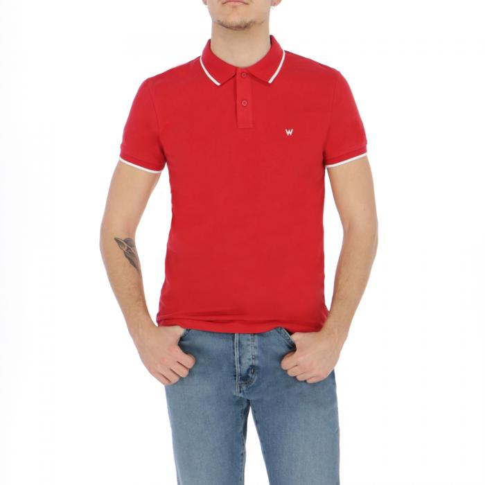 wrangler polo scarlet red