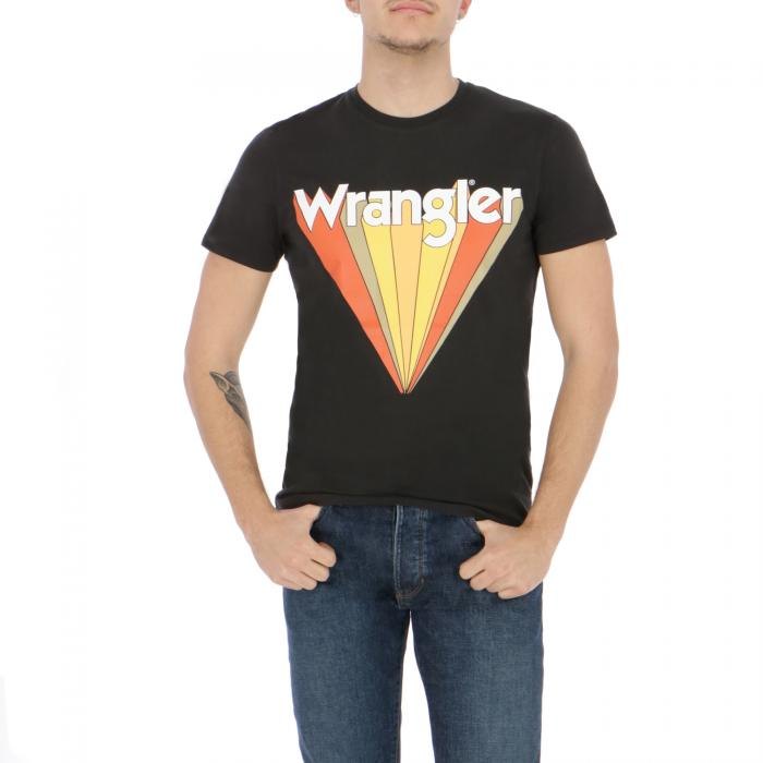 wrangler t-shirt e canotte faded black