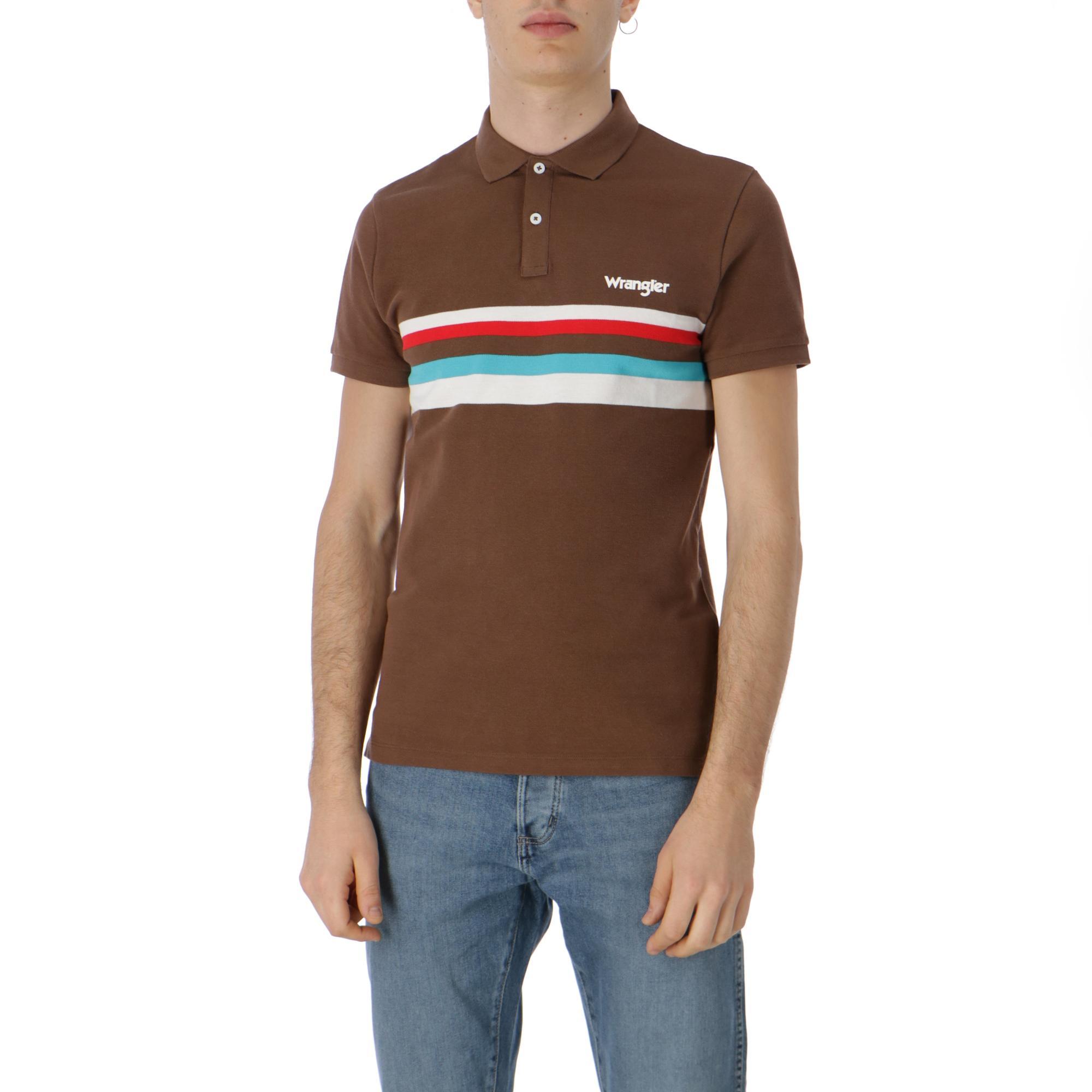 078b48a499b9 Wrangler Band Stripe Polo Pinecone | Treesse