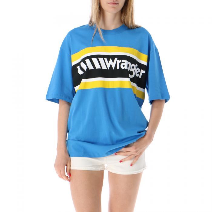 wrangler t-shirt e canotte mediterranean blue