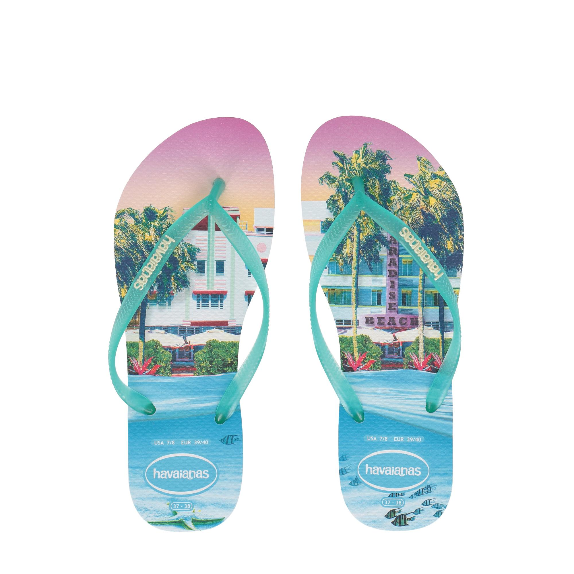 Havaianas Slim Paisage White light green
