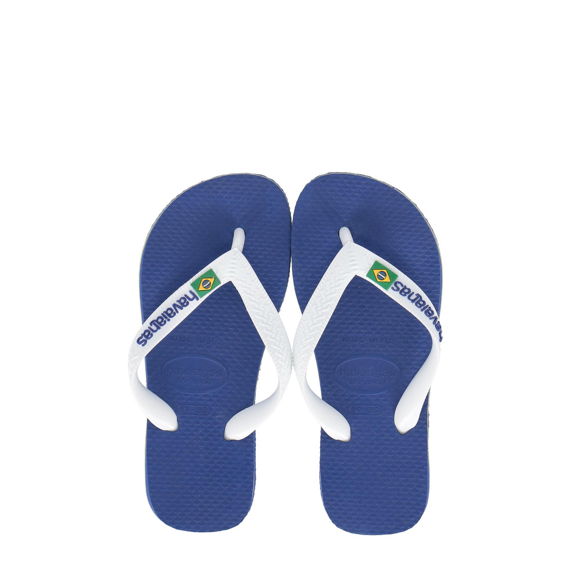 1ac37d6bf JUNIOR FLIP-FLOPS. Havaianas Brasil Logo - Kids MARINE BLUE