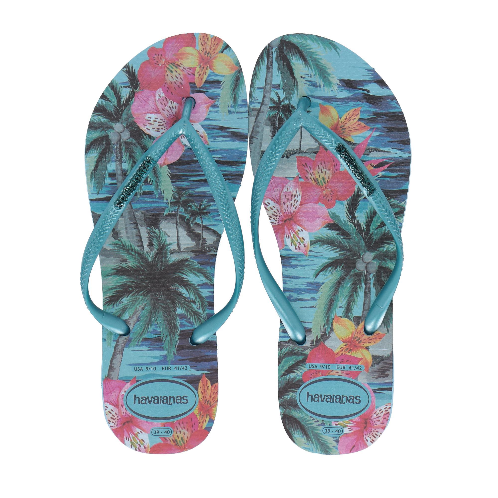 Havaianas Slim Tropical Blue splash