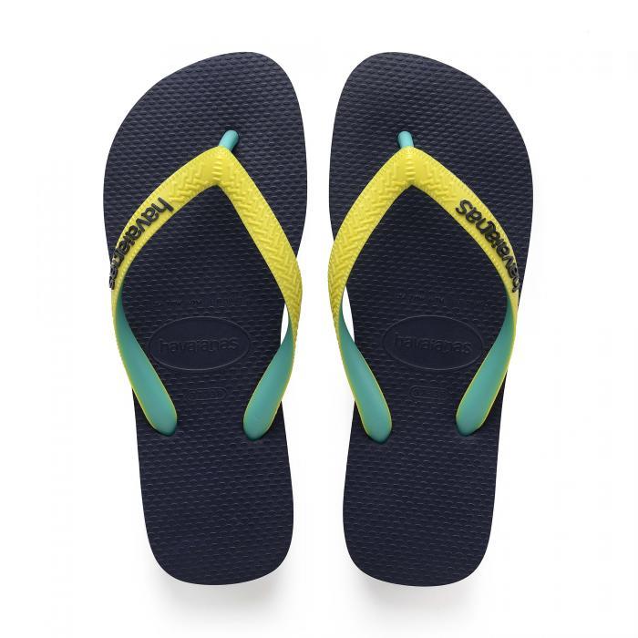 havaianas sandali e ciabatte navy/neon yellow