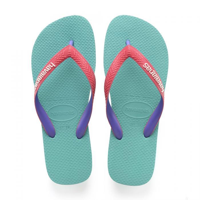 havaianas sandali e ciabatte lake green/flamingo