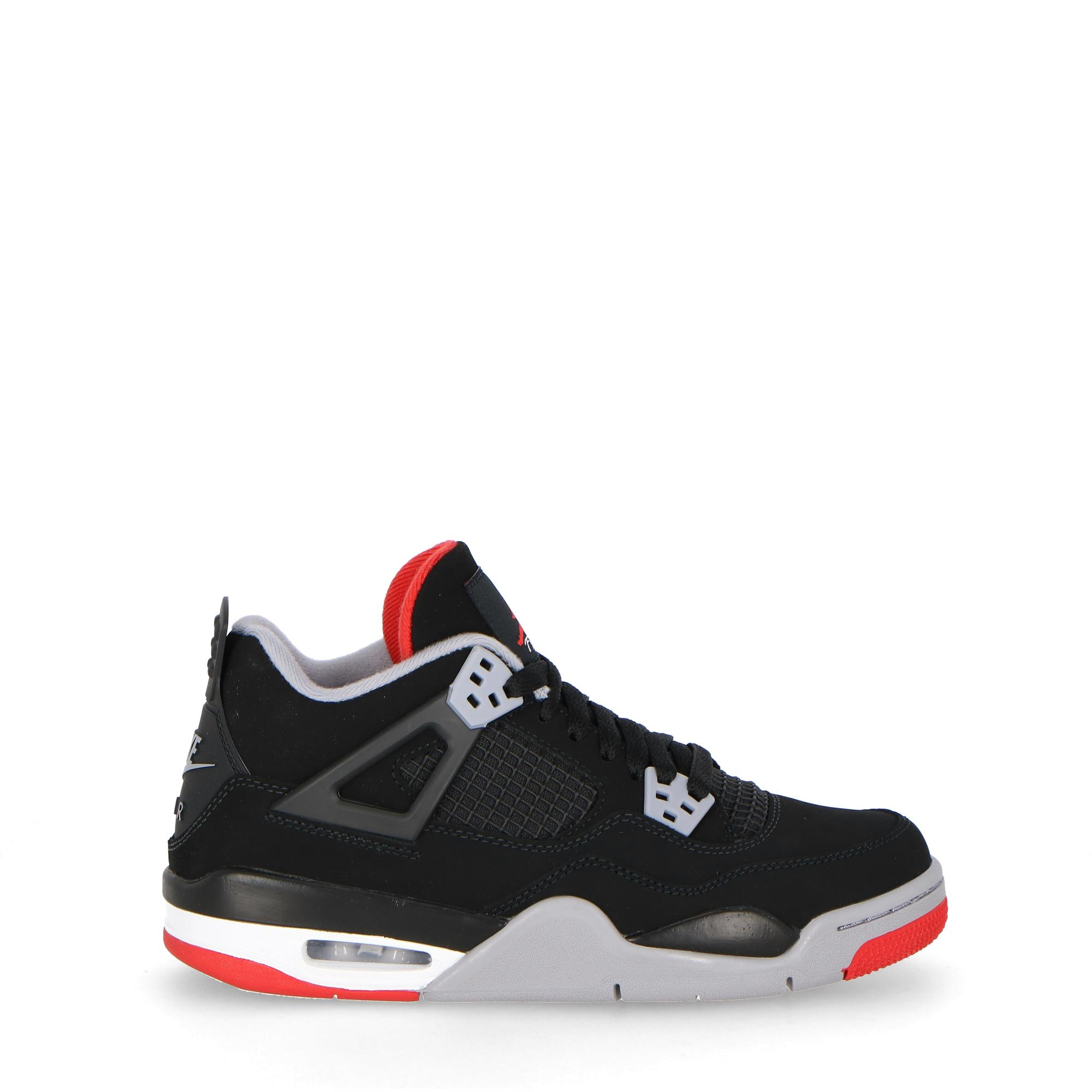 buy popular 4039b 1f280 Air Jordan 4 Retro (gs) - Kids Black firE RED GREY WHITE