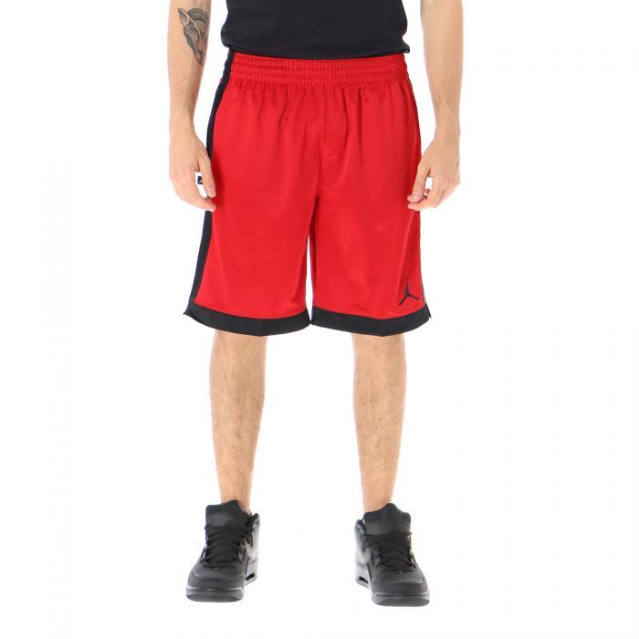 jordan shorts black gym red