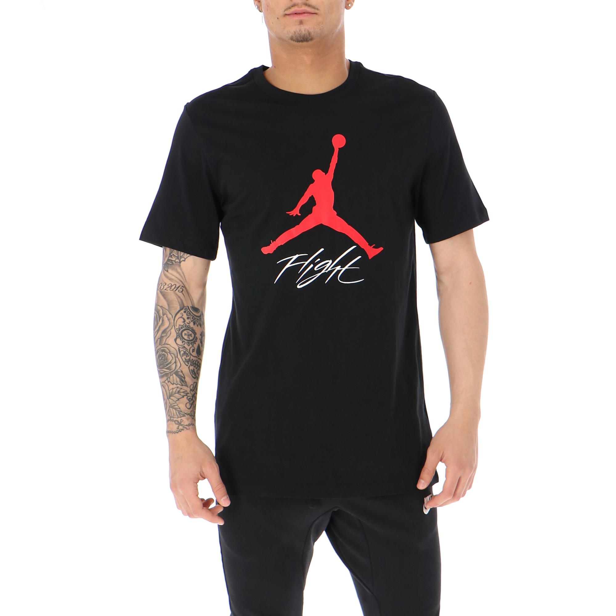 8577ca7340e Jordan Jumpman Flight Hbr Tee<br/> Black Gym Red | Treesse