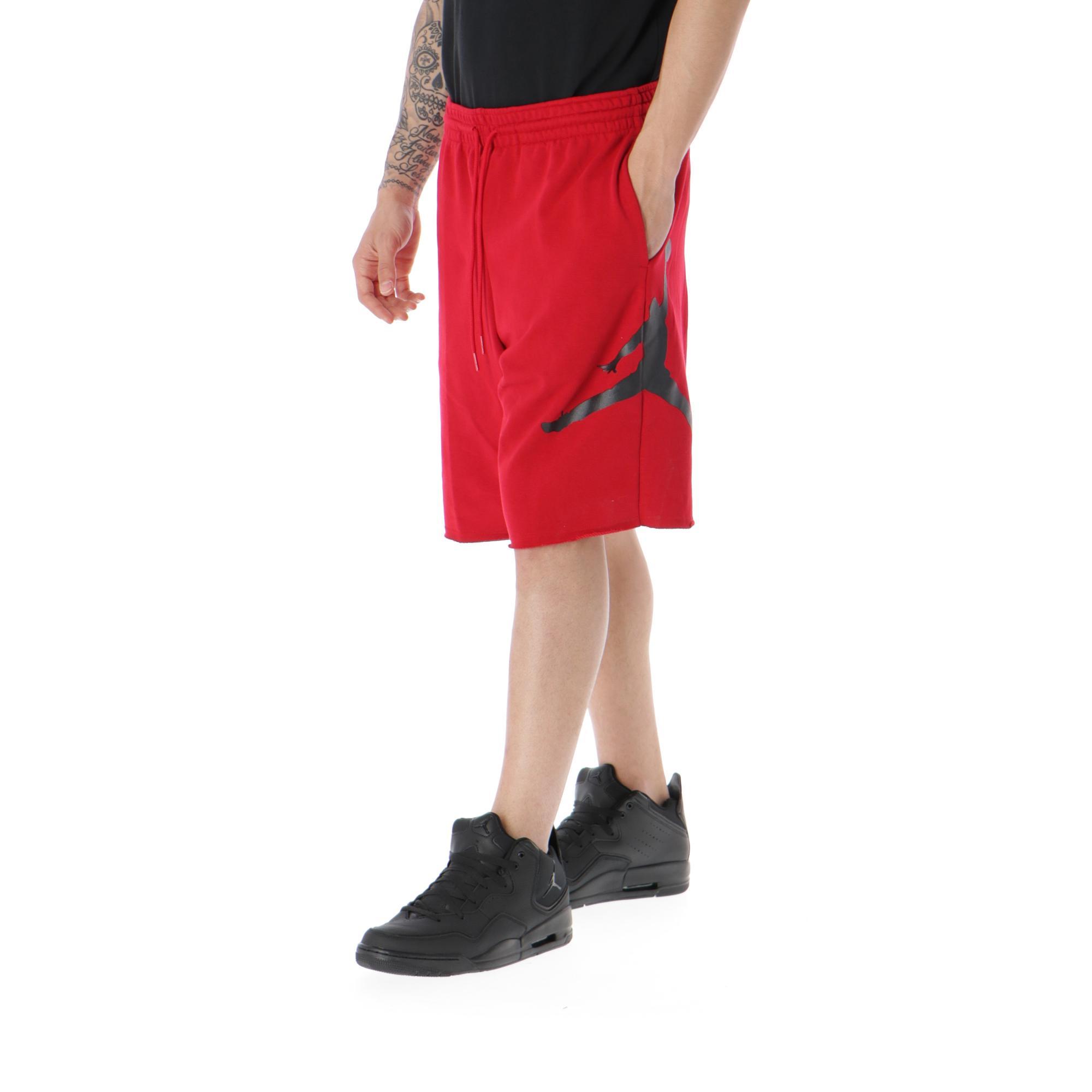 b09613cf672b8b Jordan Jumpman Air Fleece Short Gym Red Black