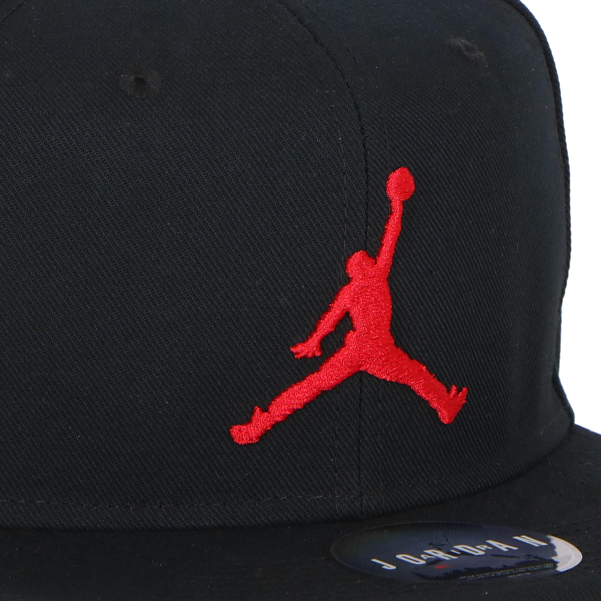 bb4019d9496 Jordan Pro Jumpman Snapback Black Gym Red | Treesse