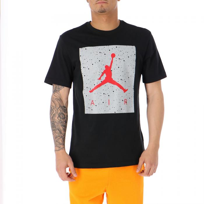 jordan t-shirt e canotte black lt smoke grey gym red