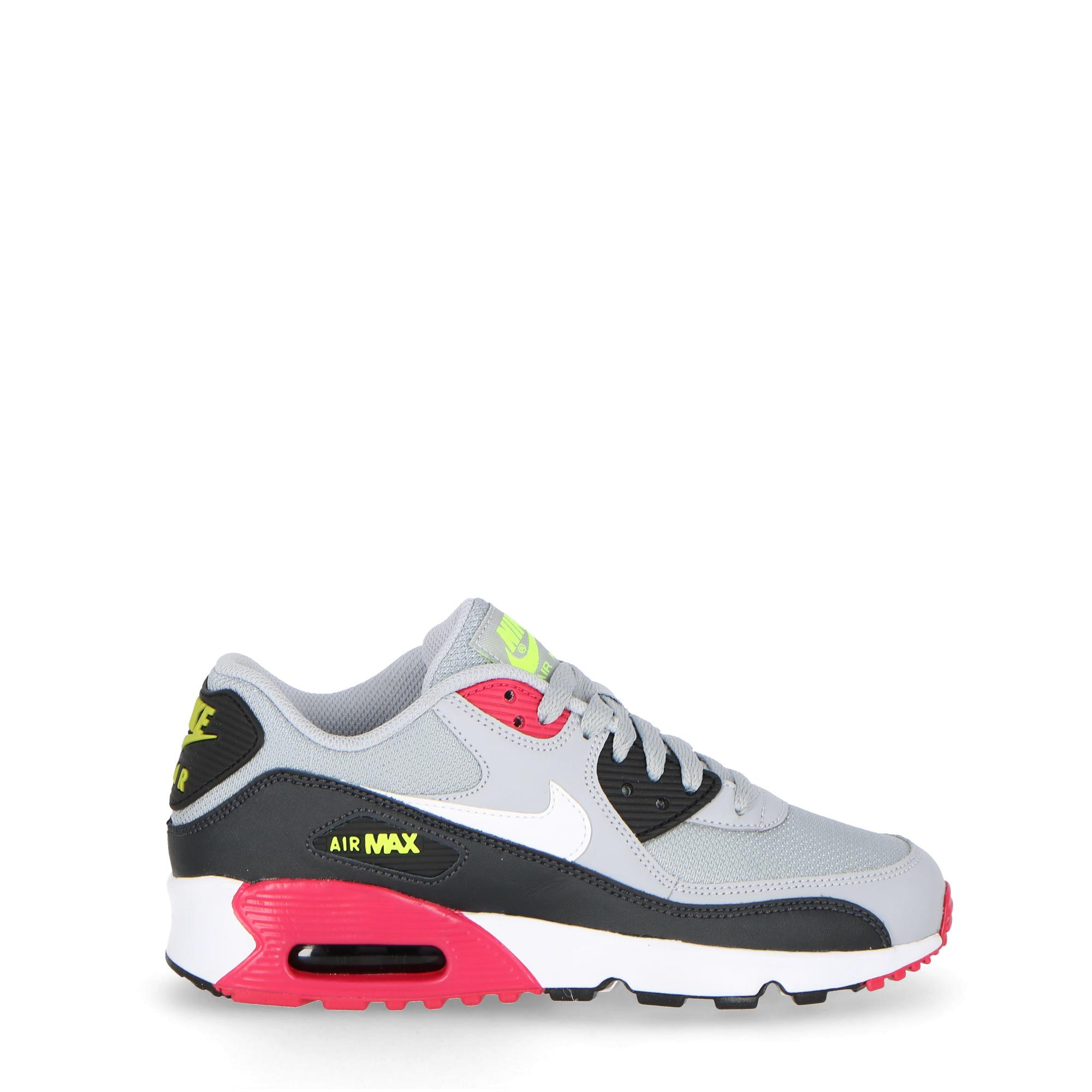 best website 2d4e1 abf40 Nike Air Max 90 Mesh (gs) - Kids Wolf grey white rush pink volt