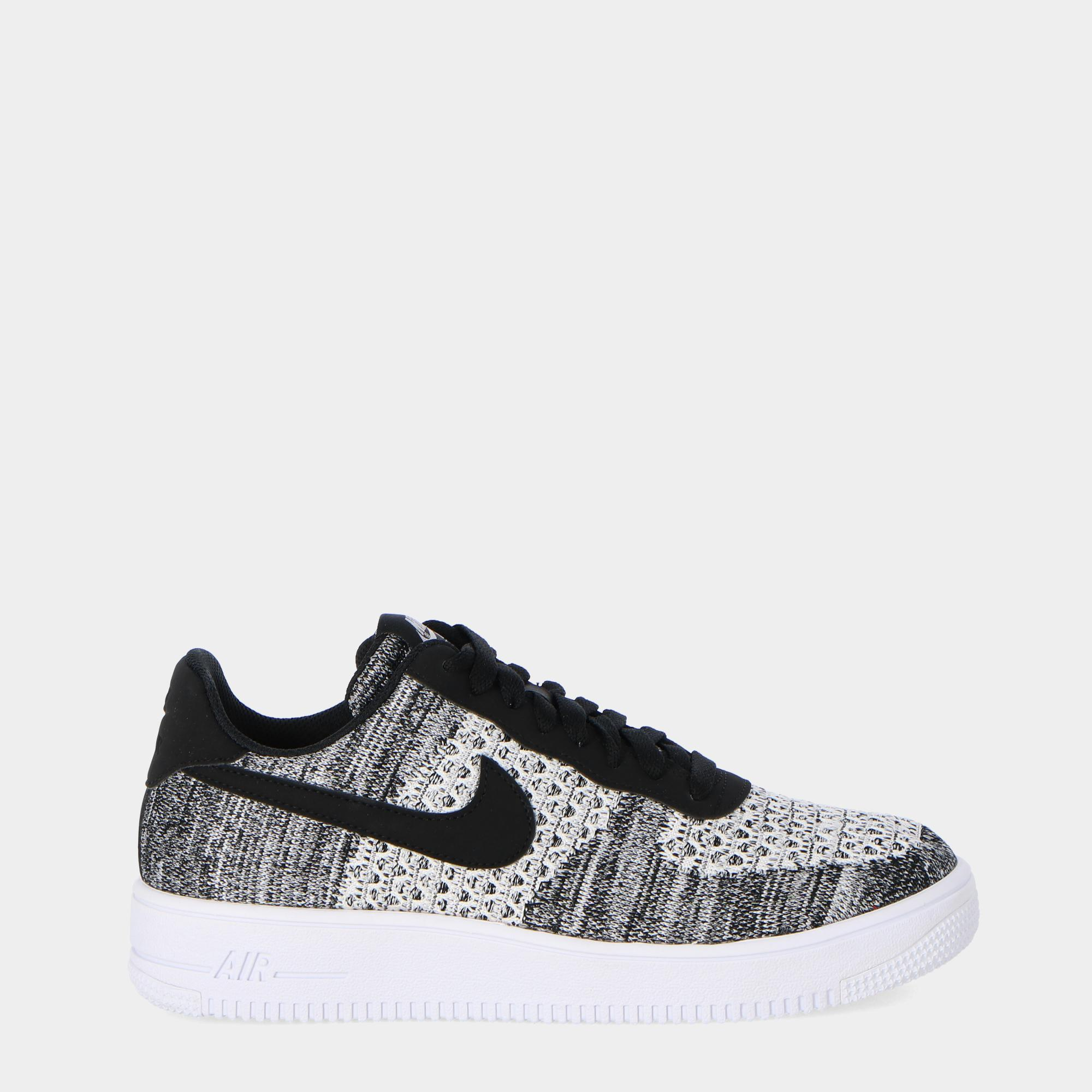 new product a250b 23a69 Nike Air Force 1 Lv8 Flyknit br   Black pure platinum blk wht