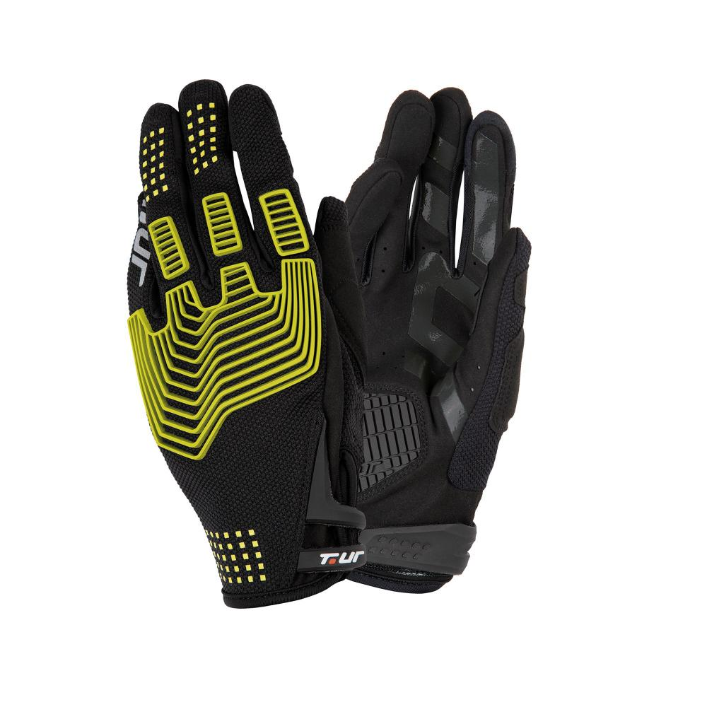 t.ur guante black-yellow fluo