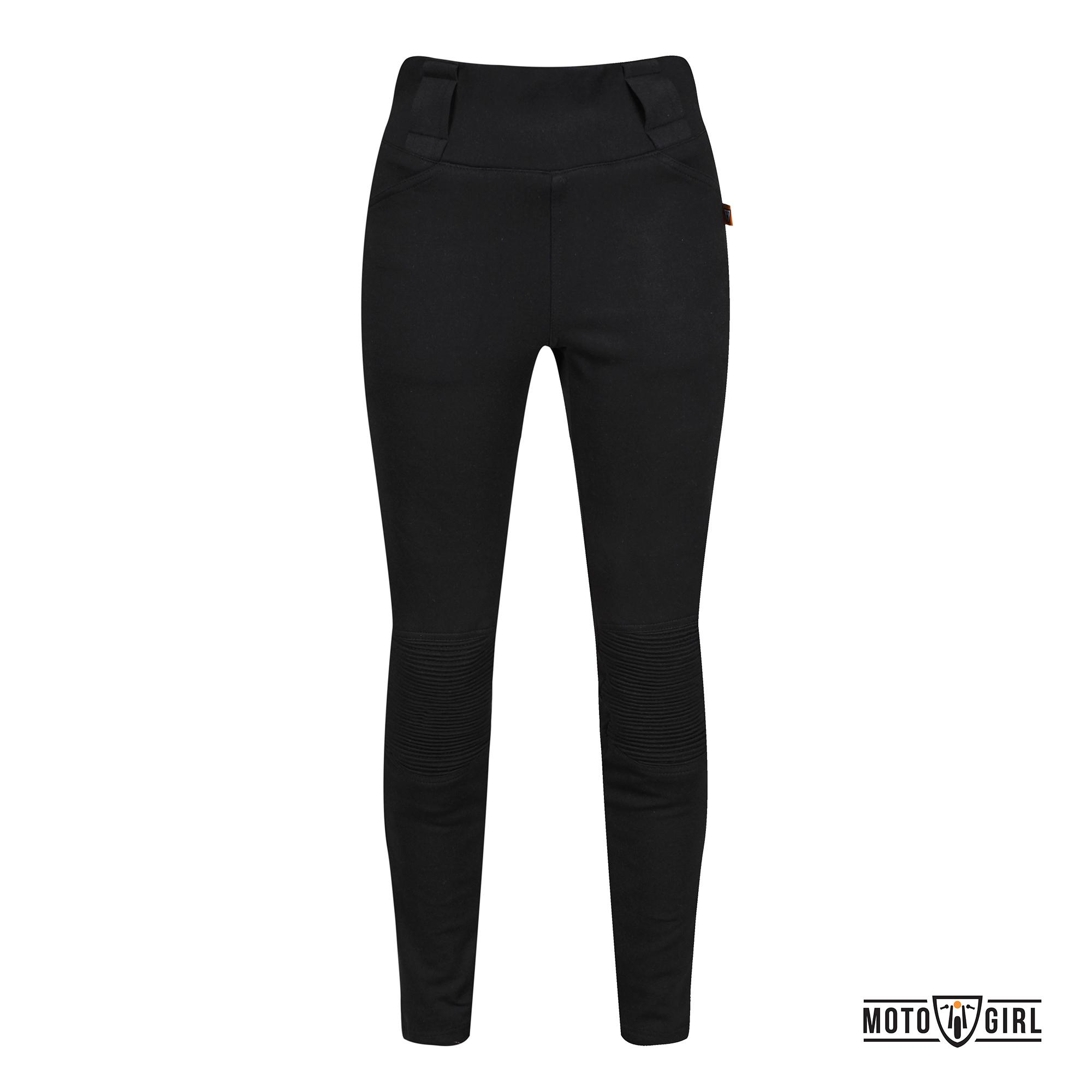 Pantaloni Motogirl - Ribbed Leggings Nero