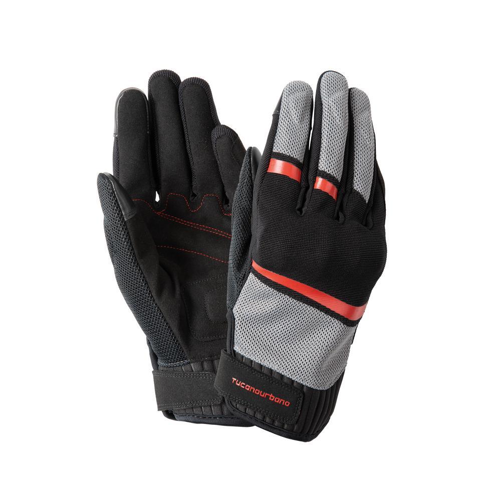 tucano urbano guanti nero–rosso