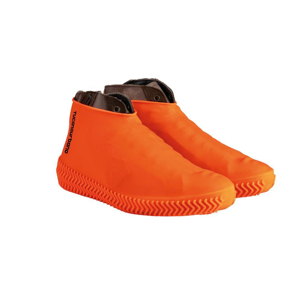 tucano urbano cubre botas naranja fluorescente