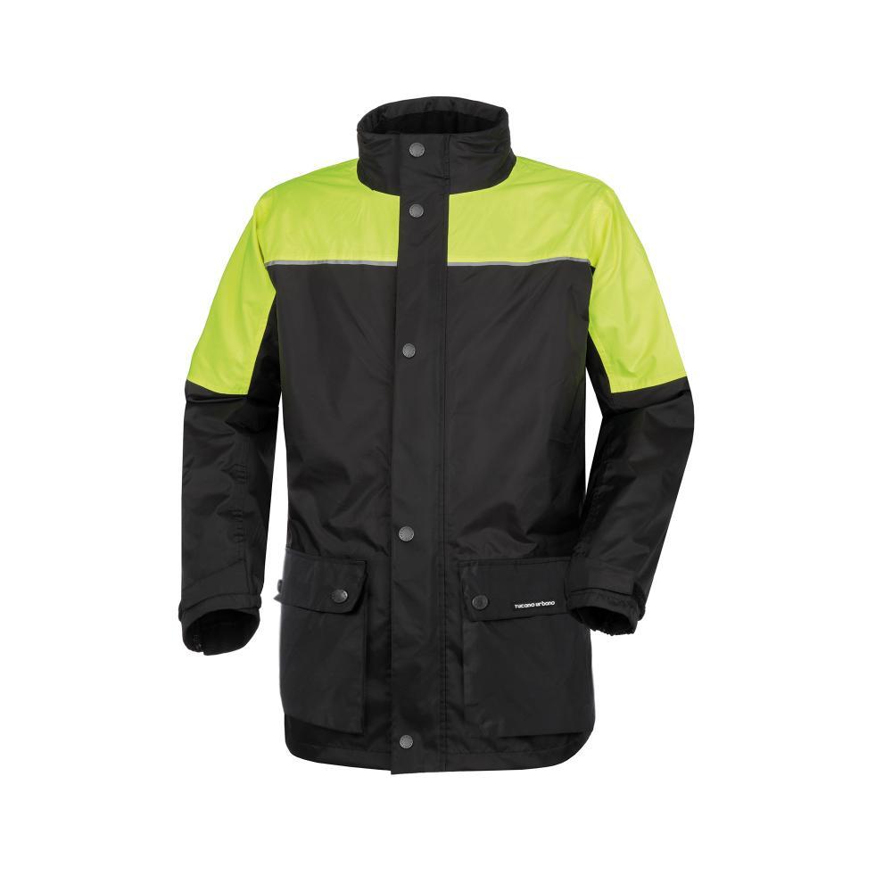 tucano urbano chaquetas y abrigos negro–amarillo fluorescente