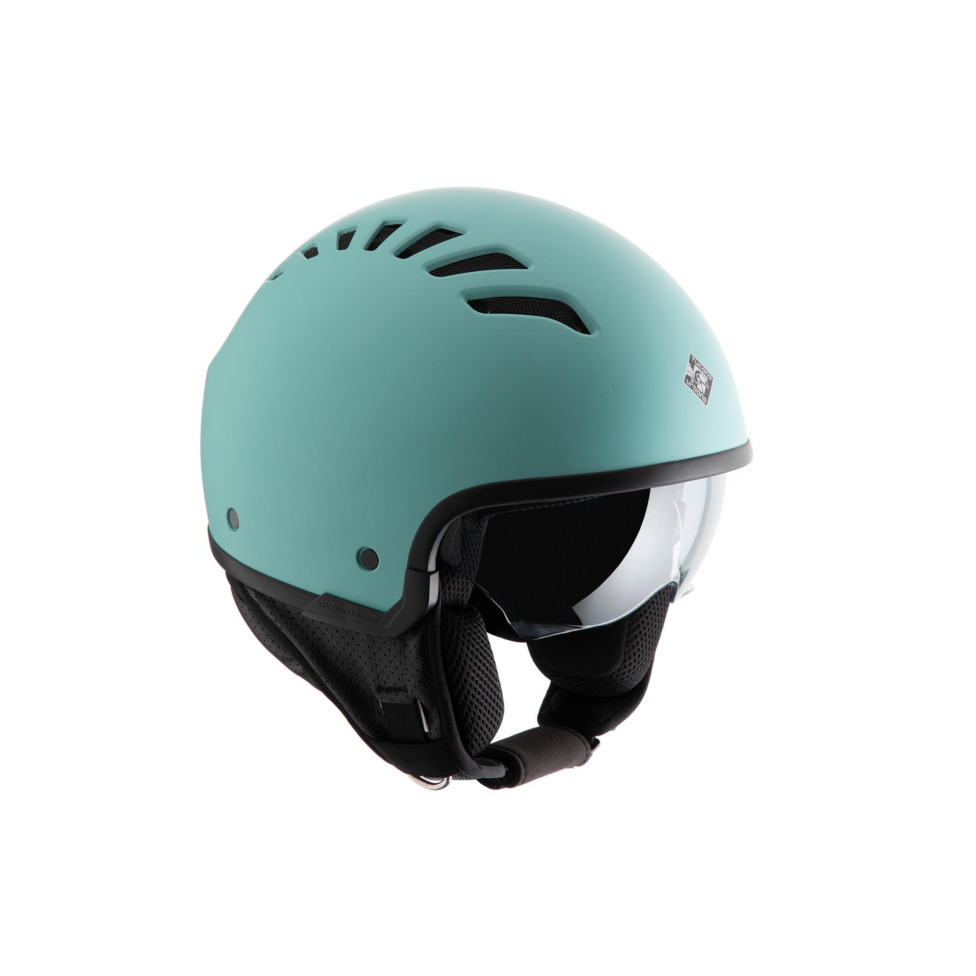 Casco Demi-jet El'fresh Tiffy Blu Opaco