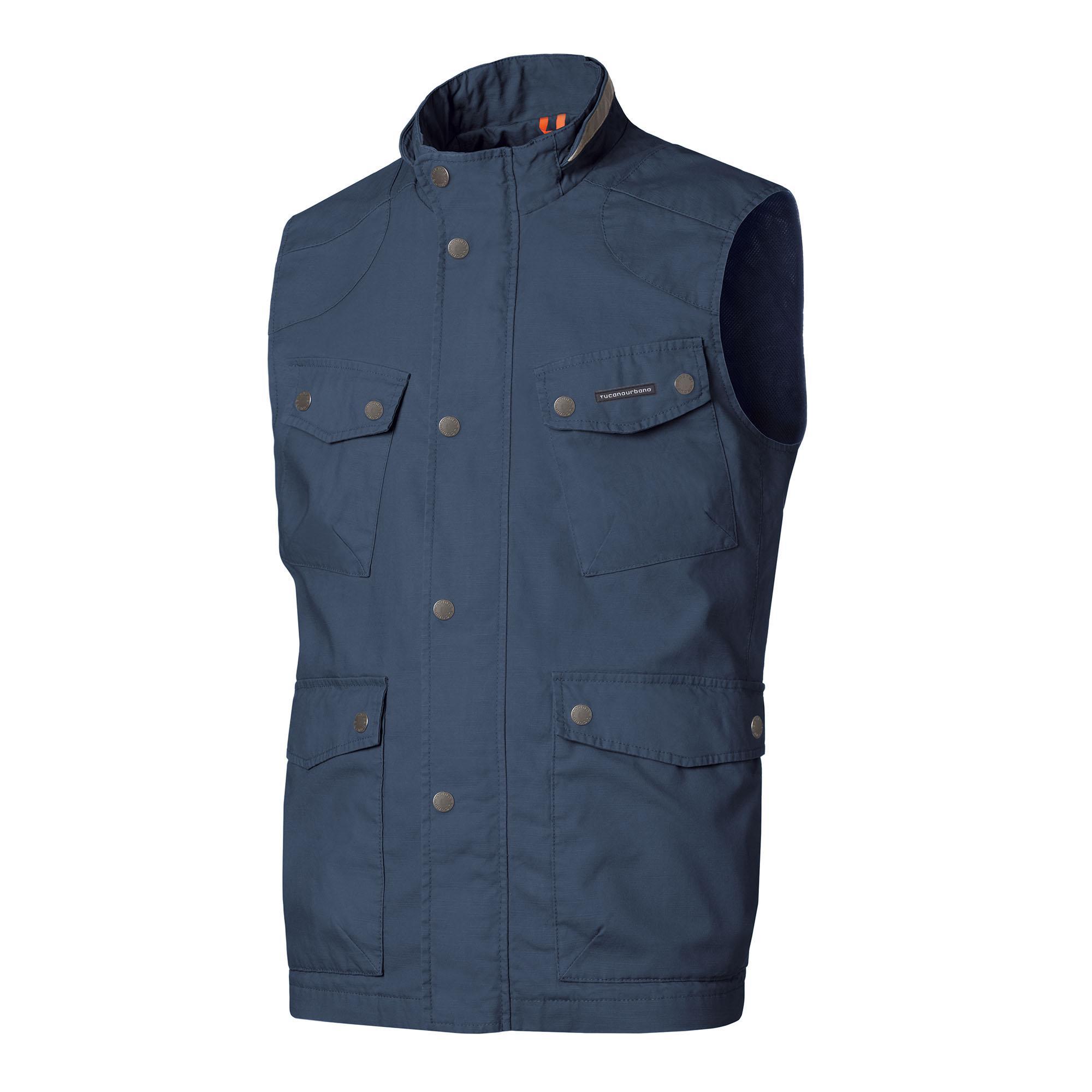 Gilet New Orazio Cotton Blu Scuro