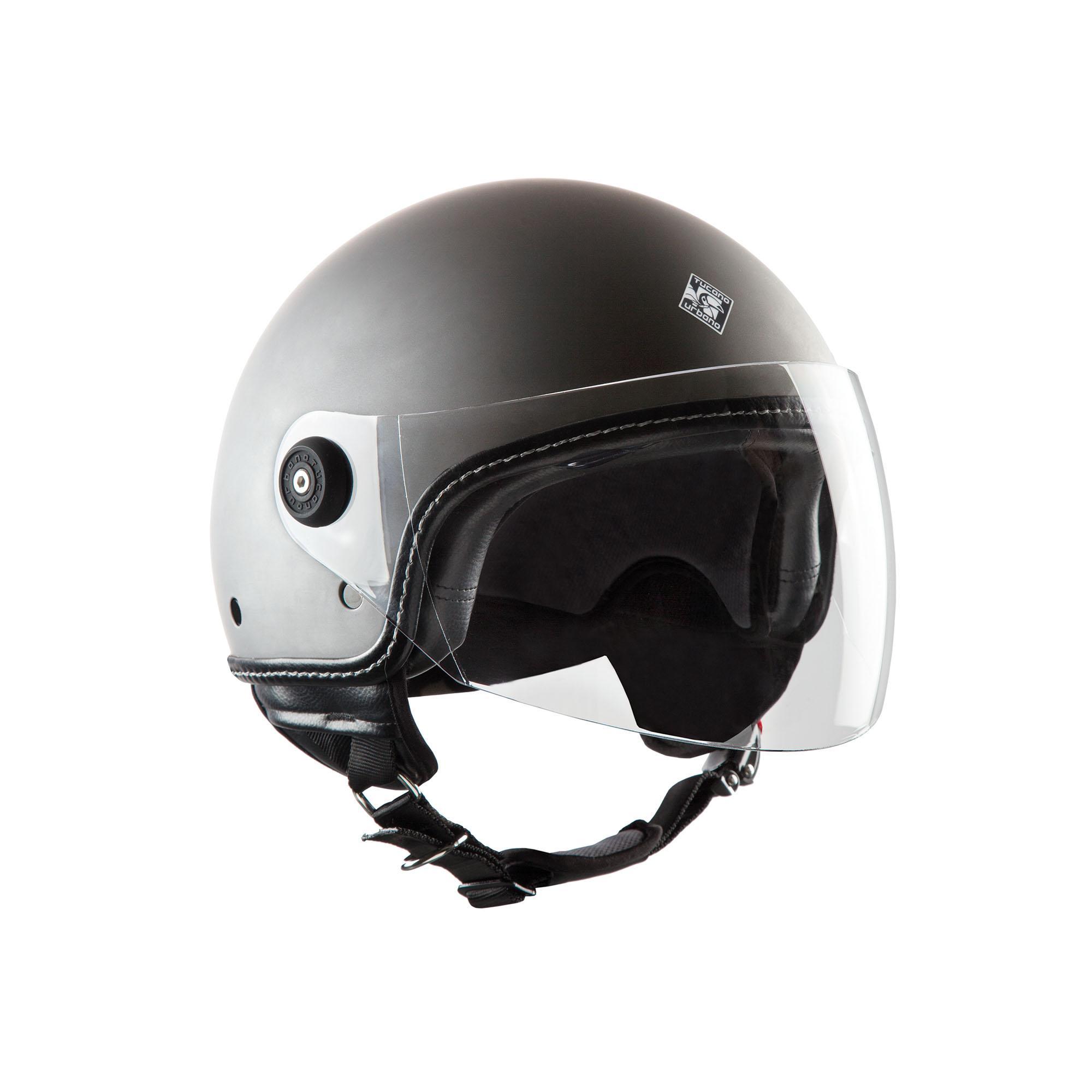 Demi–jet Helmet El'mettin 100% Polymer – Inner: 100% Polystyrene – Lining: 100% Polyester