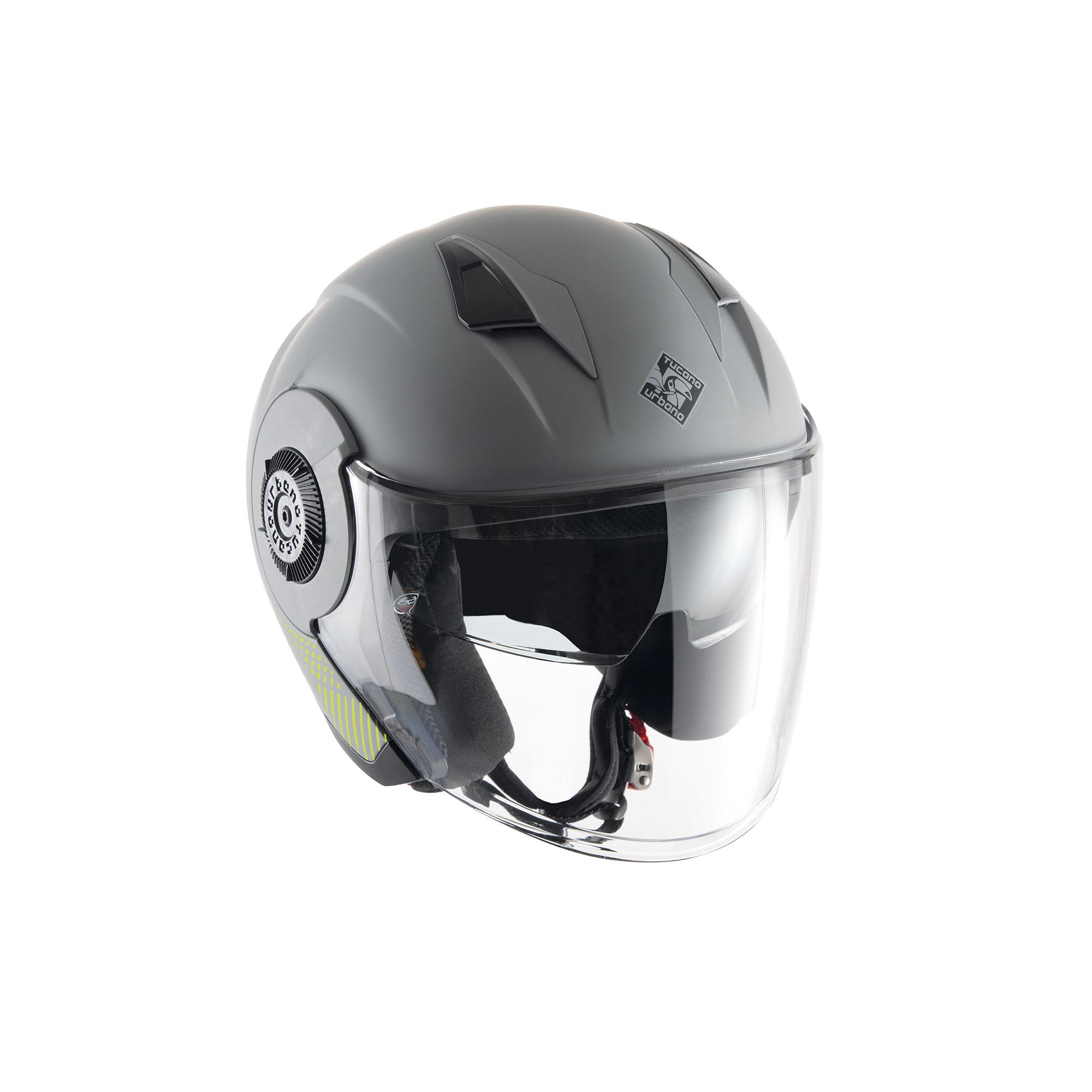 Casco Jet El'tange Grey Graphic–A Opaco