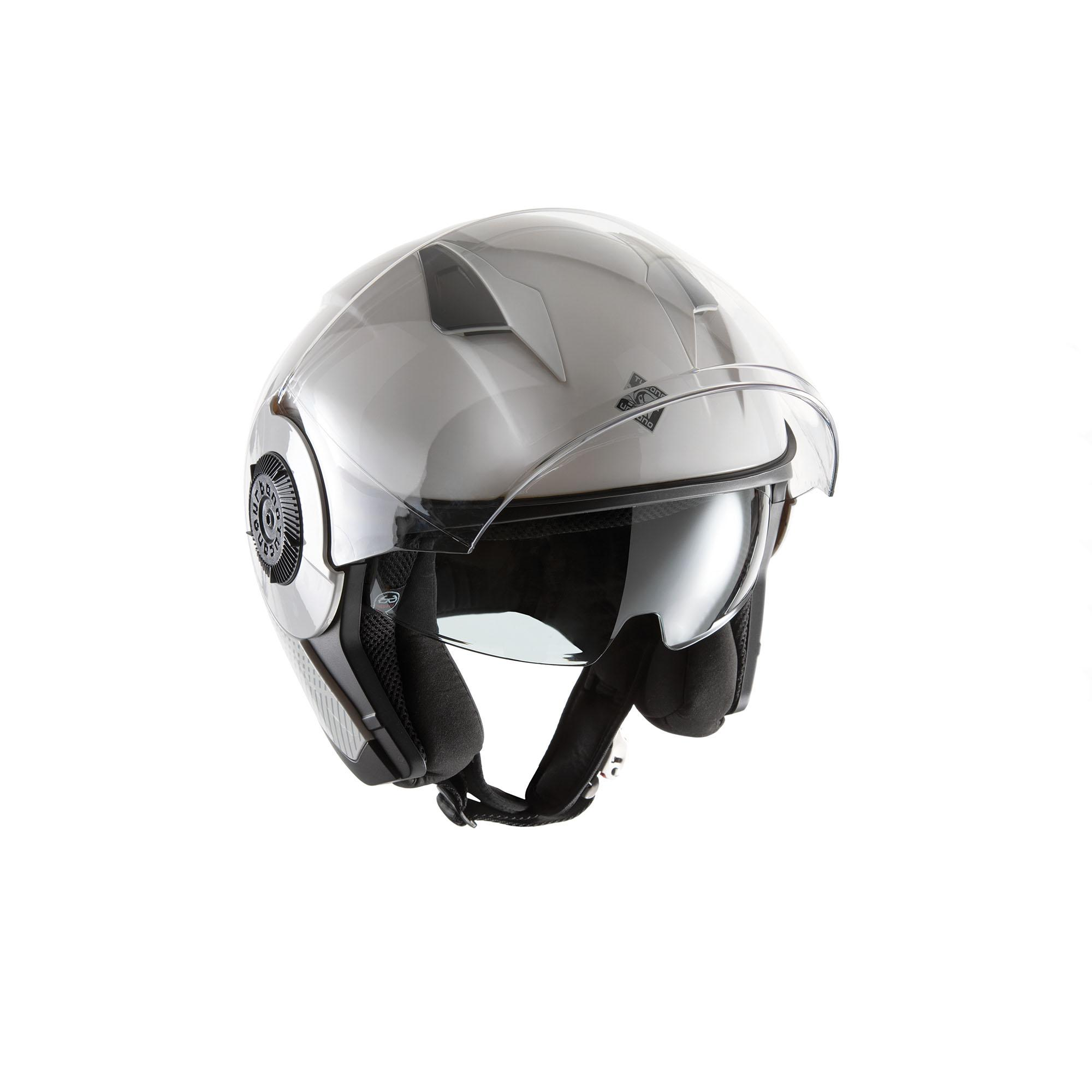 Casco Jet El'tange White Graphic–A Lucido