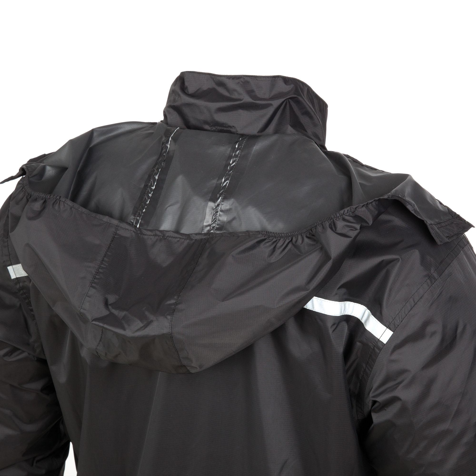 Super–compact Raincoat Nano Rain Jacket Plus Black