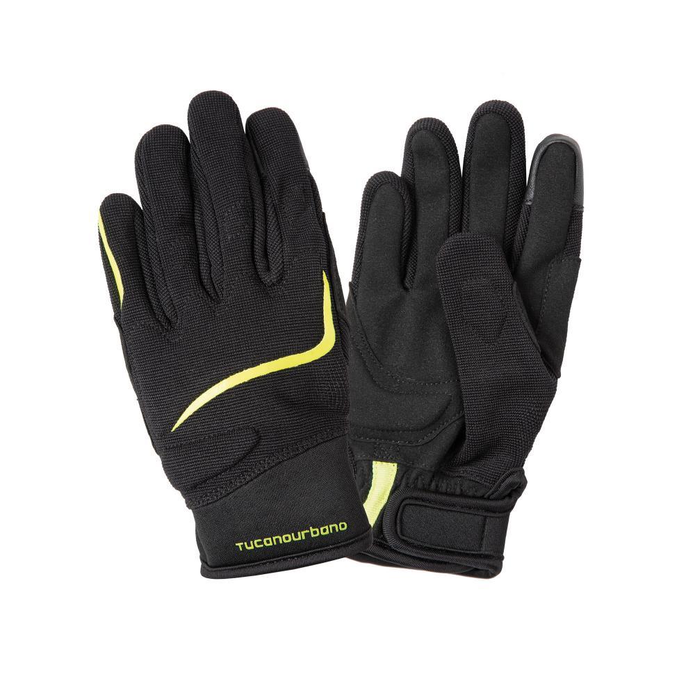 tucano urbano ce approved motorbike gloves  black–fluorescent yellow