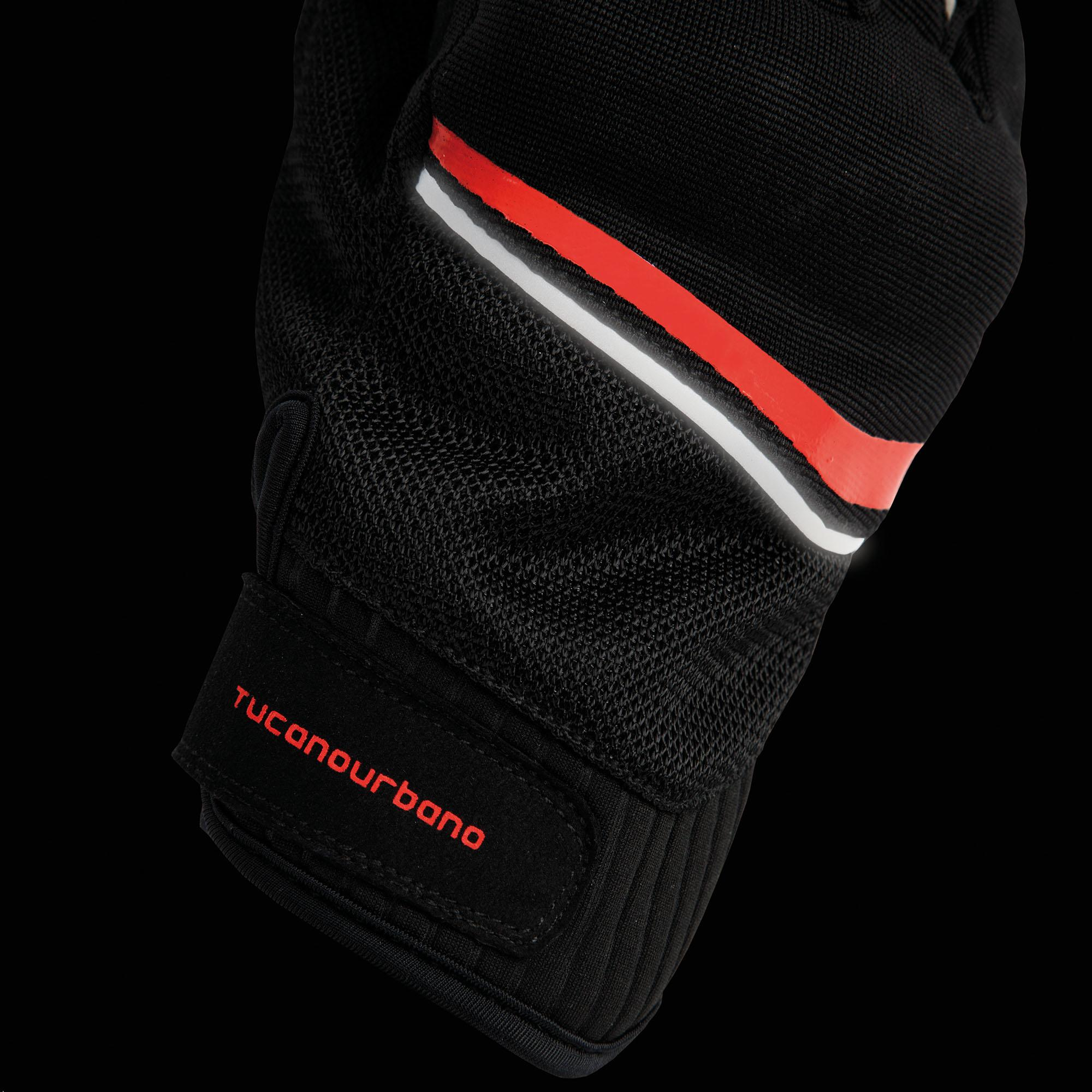 Gloves Penna Black–Reflex Red