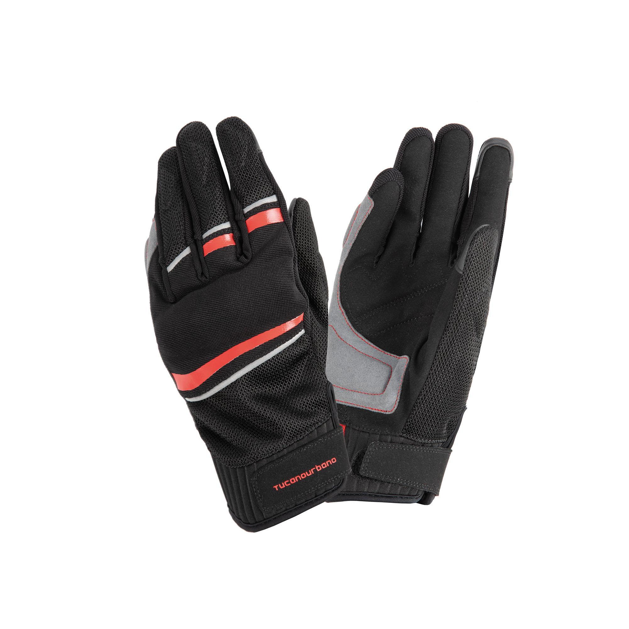 Gloves Penna Black–Reflex Red Tucano Urbano