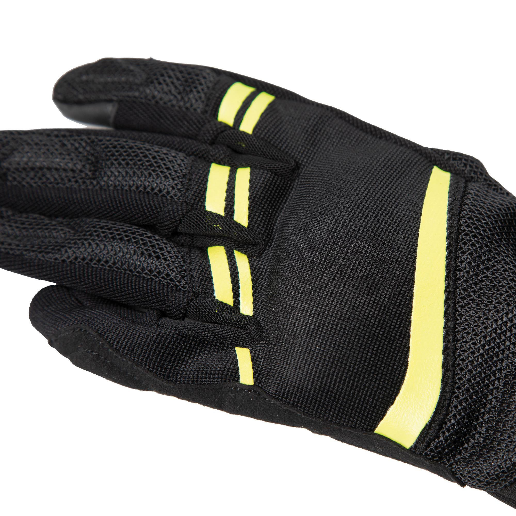 Gloves Lady Penna Black–Fluorescent Yellow