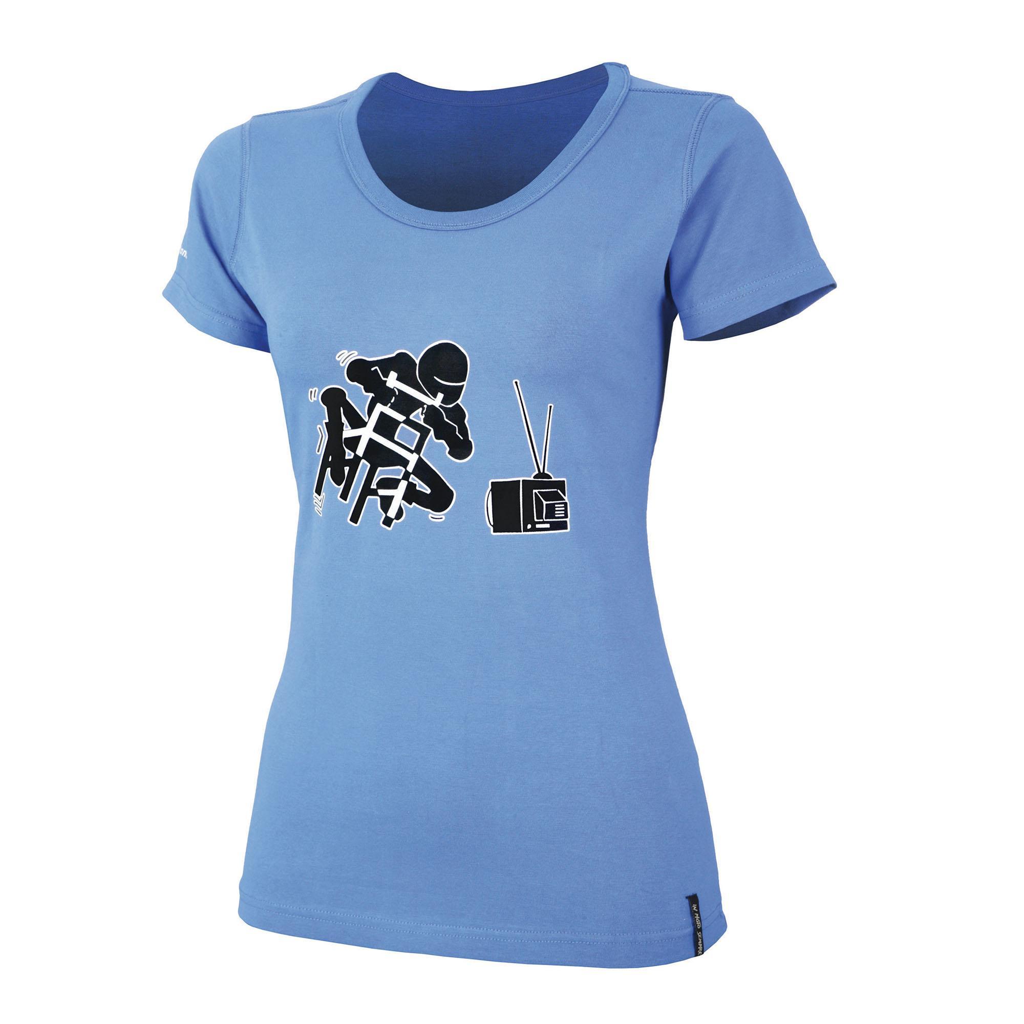 T-shirt Tu Code Lady curve on blue