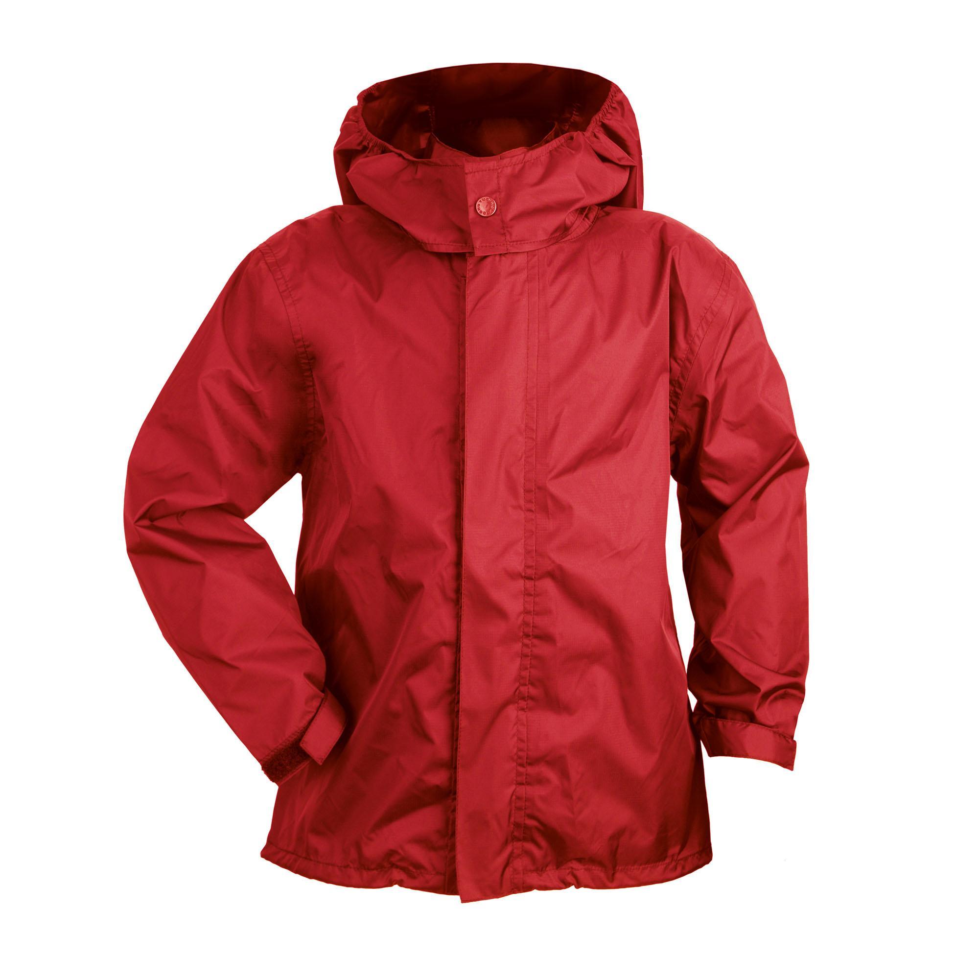 Nano Rain Jacket Kid Rosso