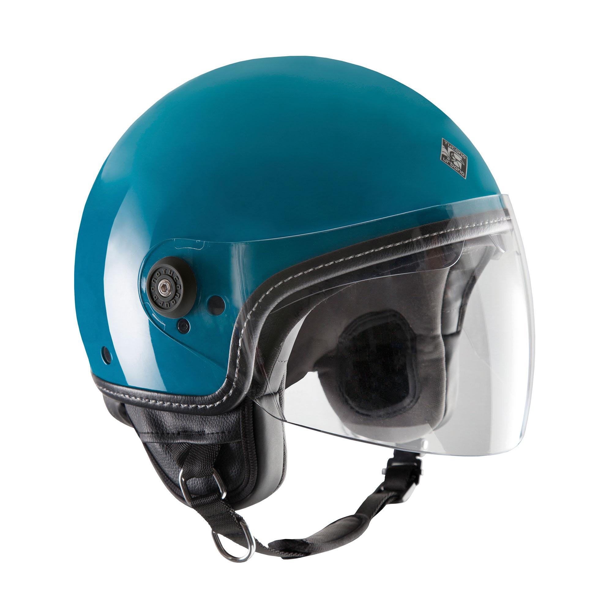 Demi-jet Helmet El'mettin Glossy Turquoise Green
