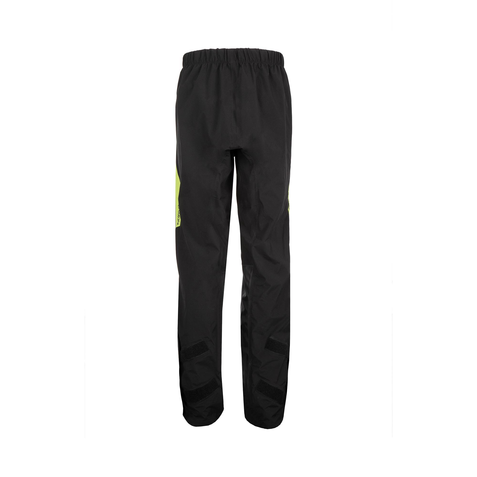 Complet Veste Et Pantalons Anti-pluie Set Diluvio Pro Noir–Jaune Fluo
