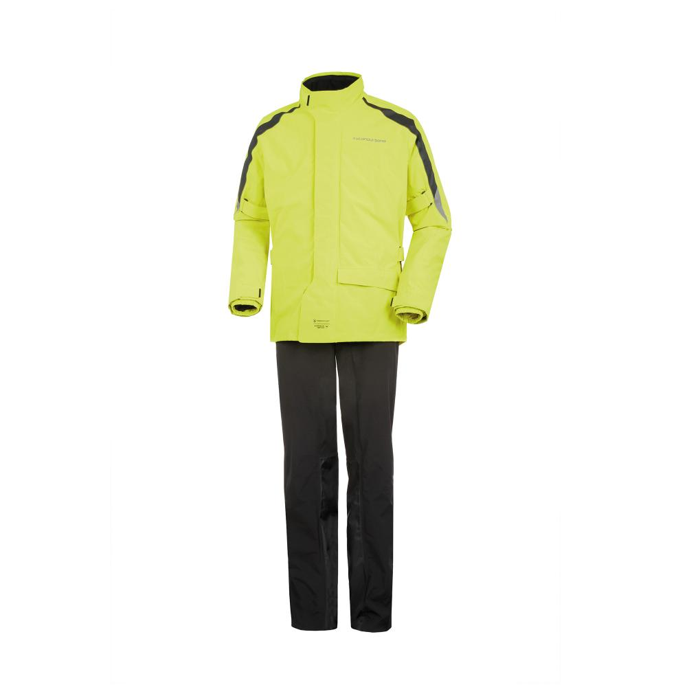 tucano urbano set giacca e pantaloni nero–giallo fluo