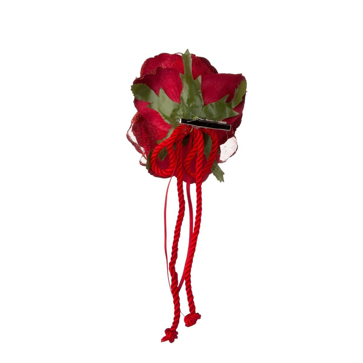 Rosa Rossa Con Clip