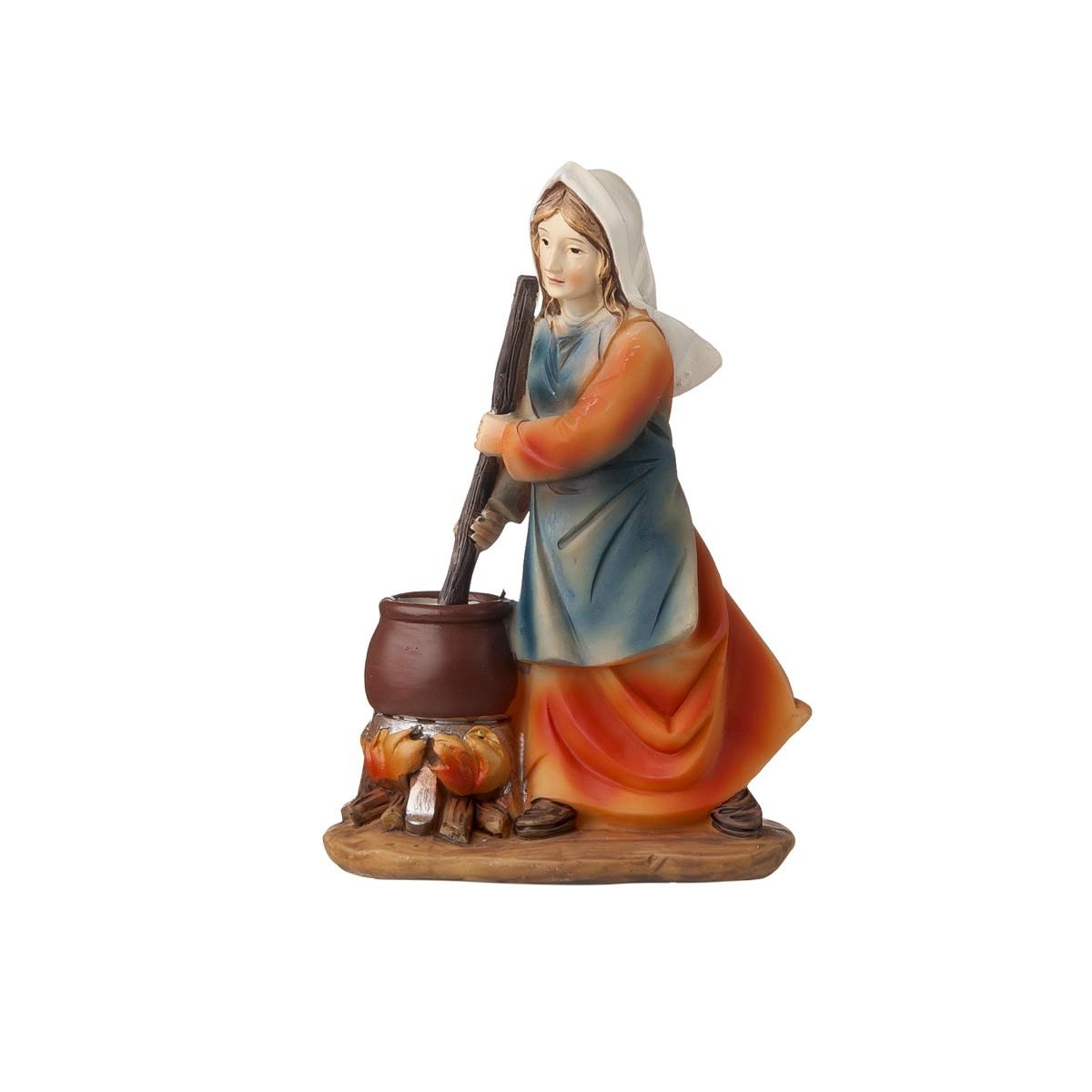 Statuetta Donna Con Pentola H12