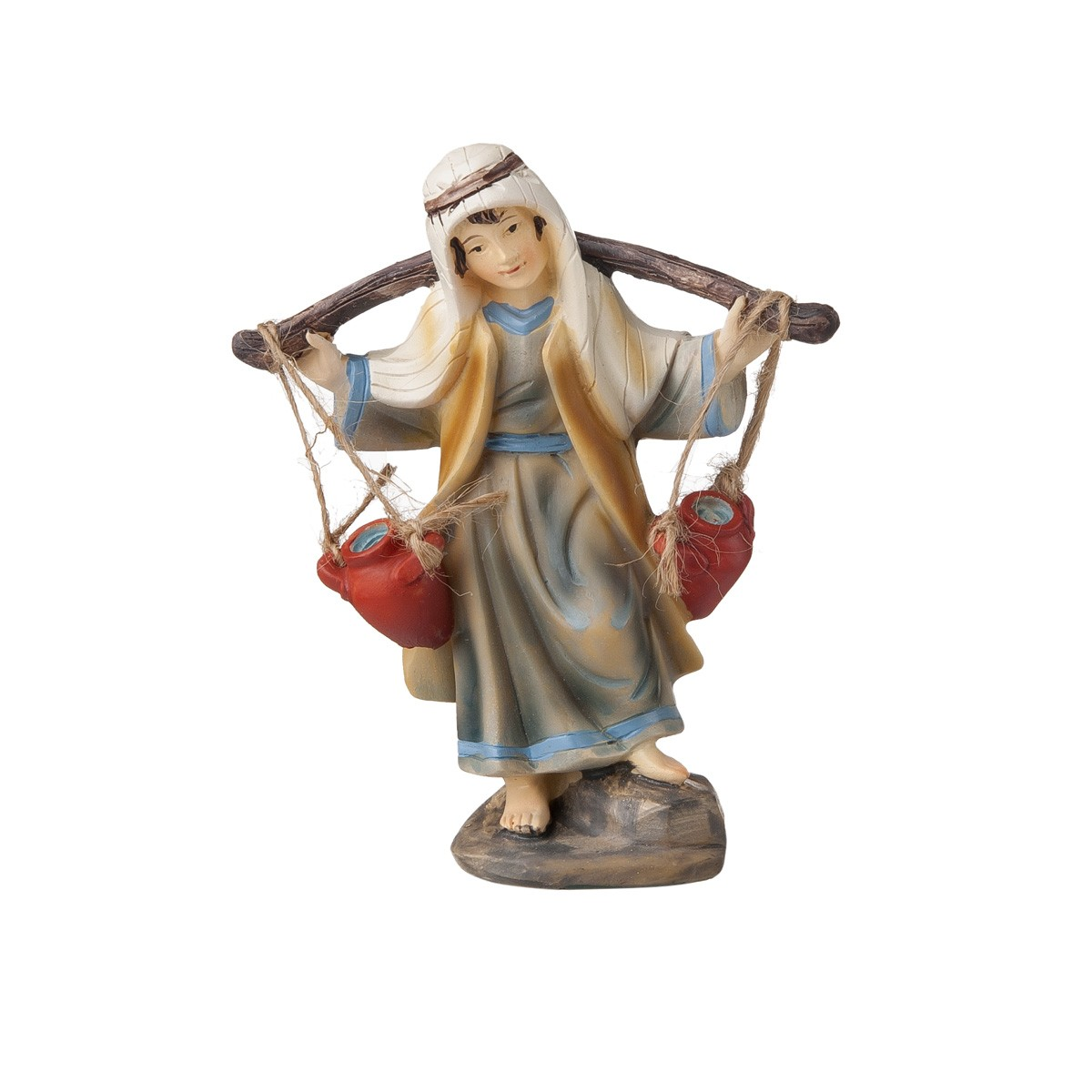 Statuetta Pastore Con Anfore H12