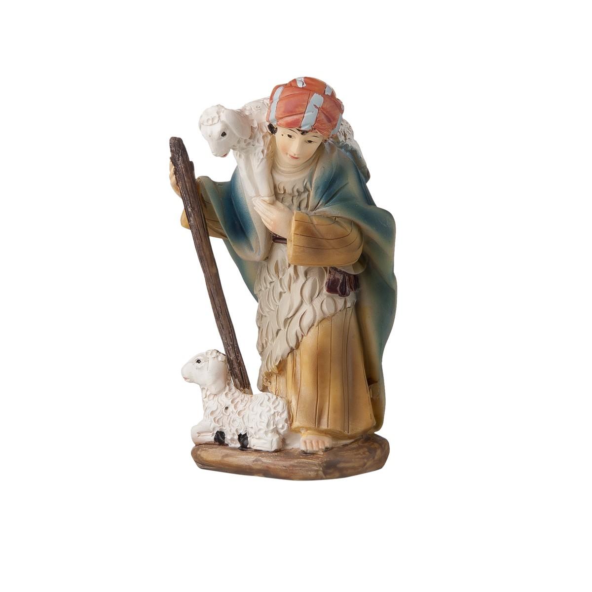 Statuetta Pastore Con Pecore E Bastone H12