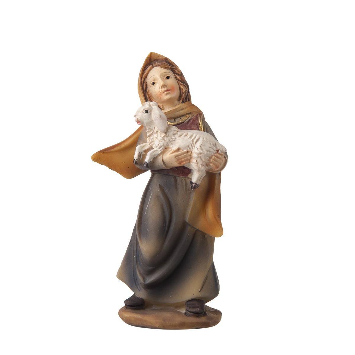 Statuetta Donna Con Agnello H9