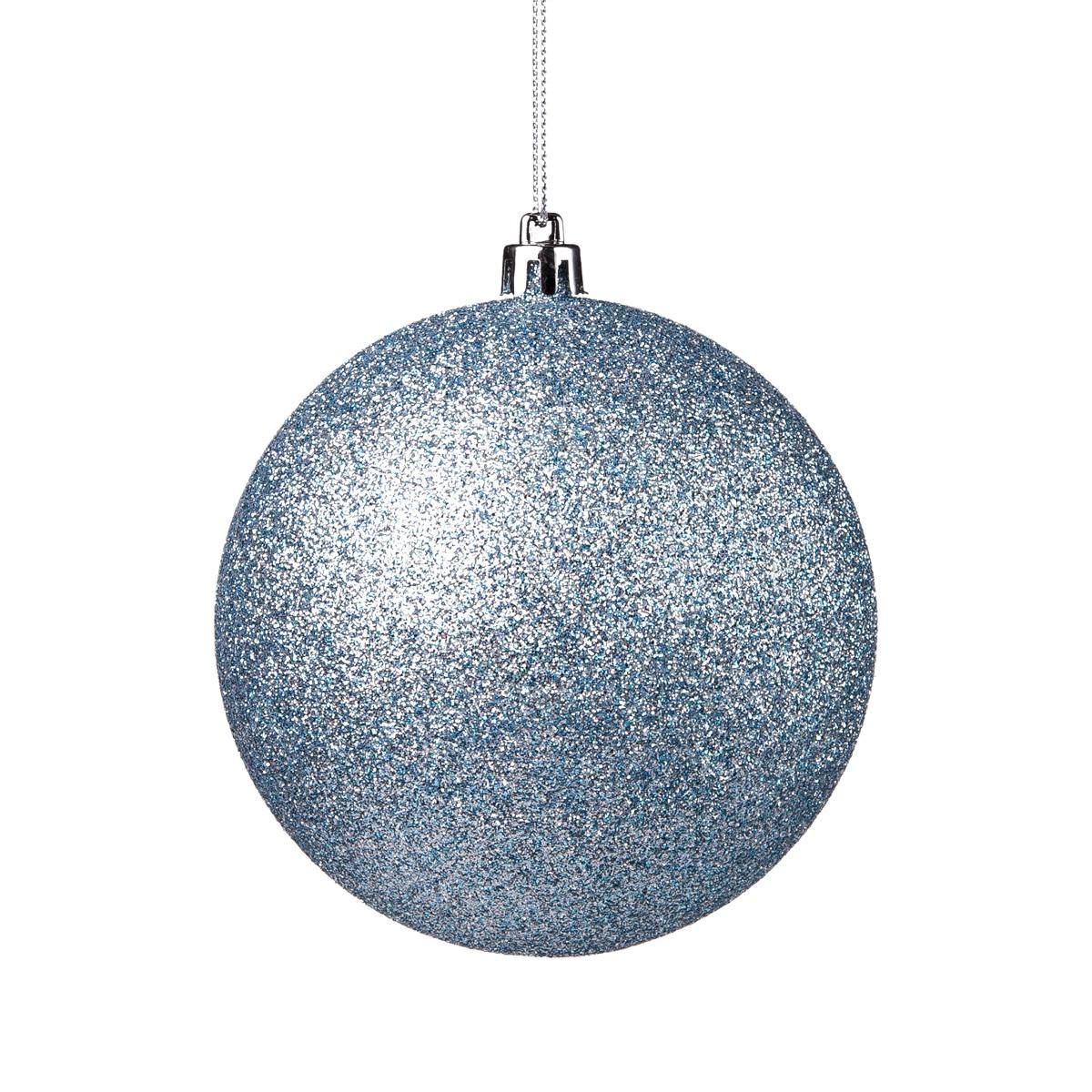 Sfera Glitter Azzurra Diam. 10