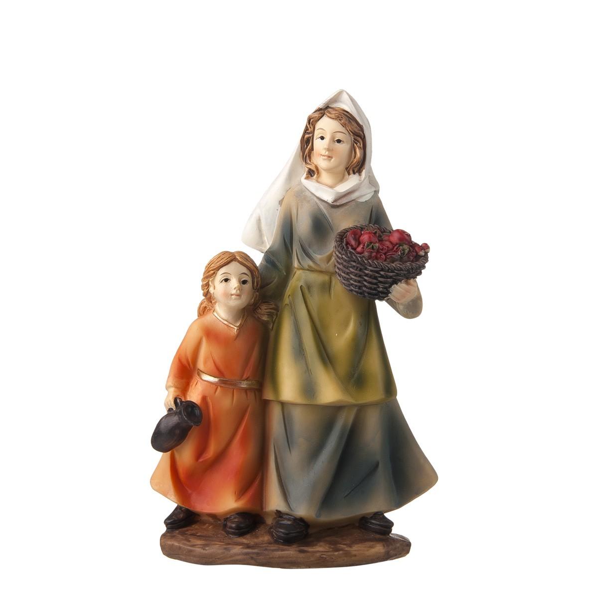 Statuetta Donna Con Bimbo H15