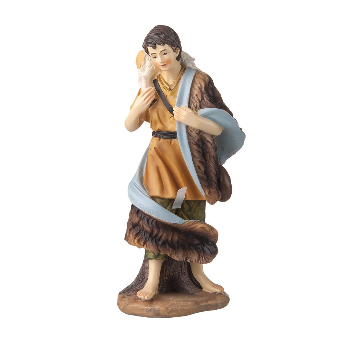 Statuetta Pastore Con Pecora H20