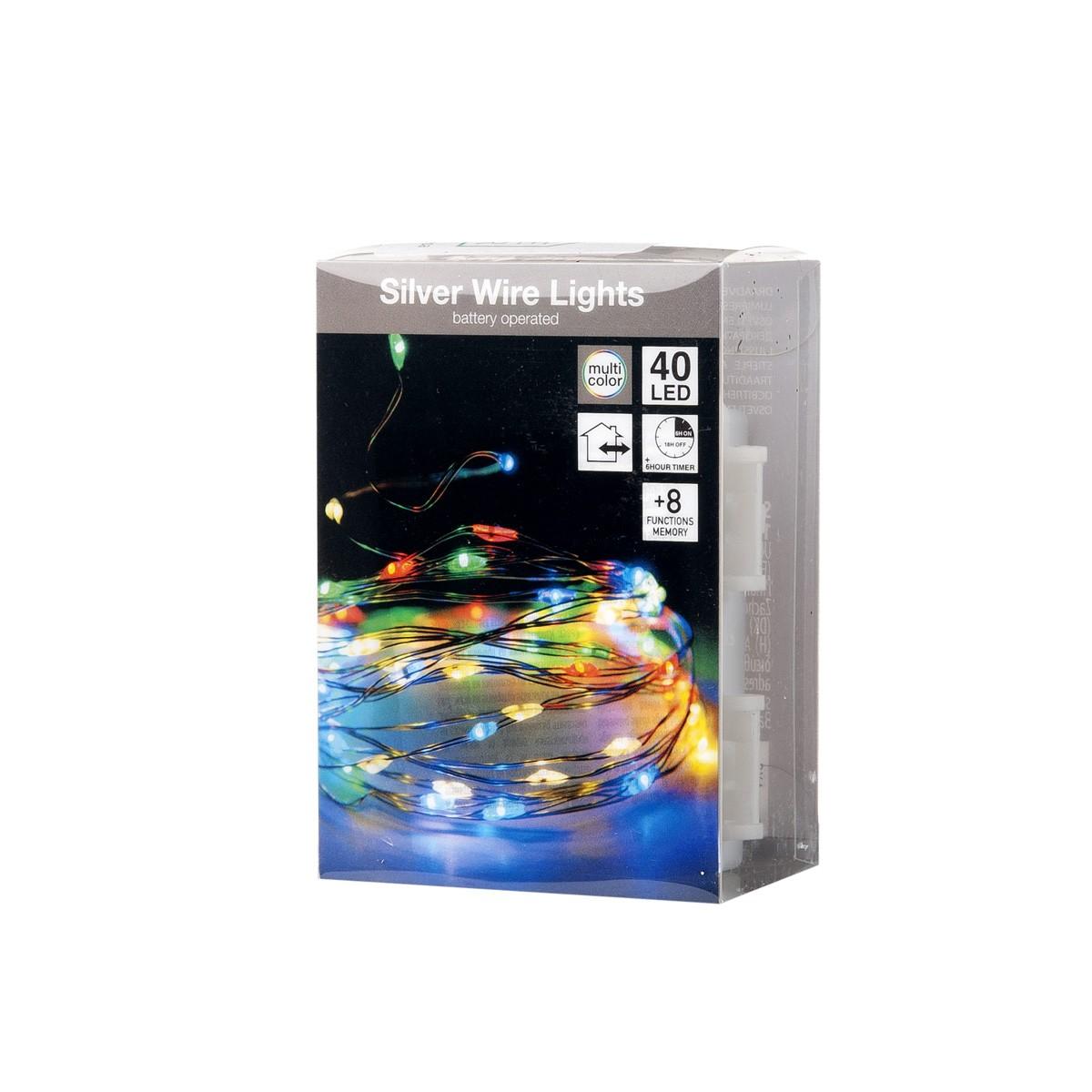Catena 40 Microled Multicolor Con Cavo Modellabile