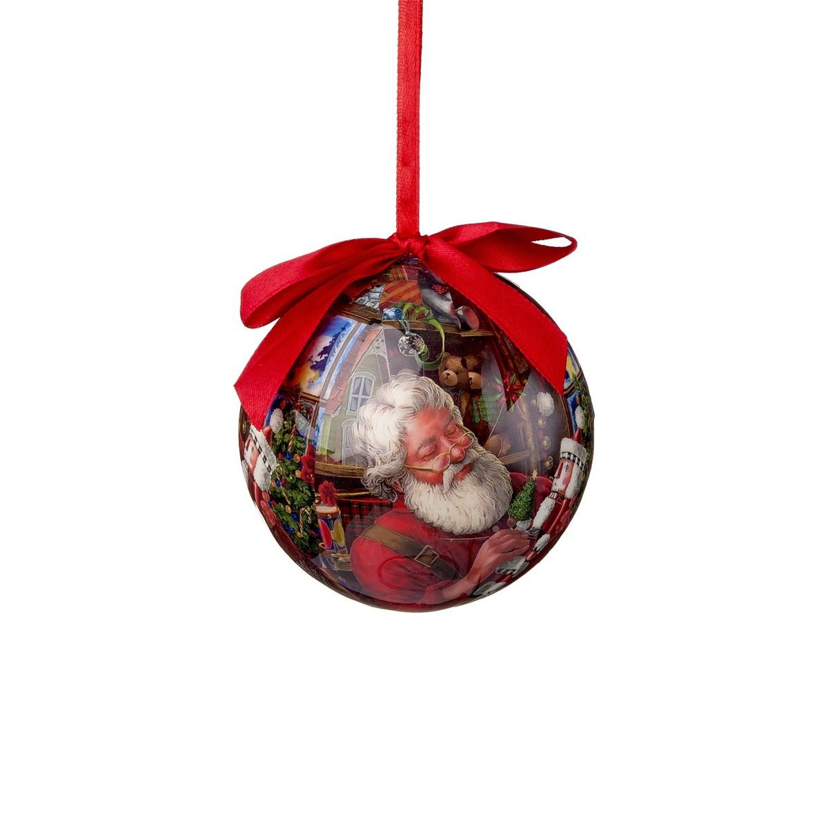 Sfera Con Babbo Natale E Giochi Diam. 10
